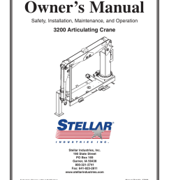 owner s manual 3200 articulating crane safety installation maintenance and operation [ 791 x 1024 Pixel ]