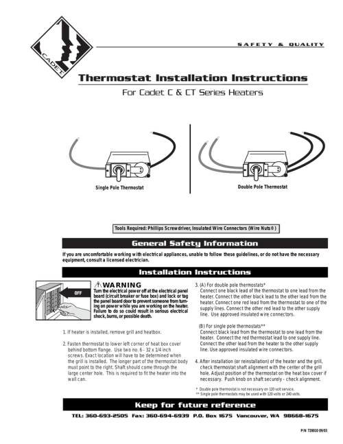 small resolution of thermostat installation instructions for cadet c ct series heaters manualzz com