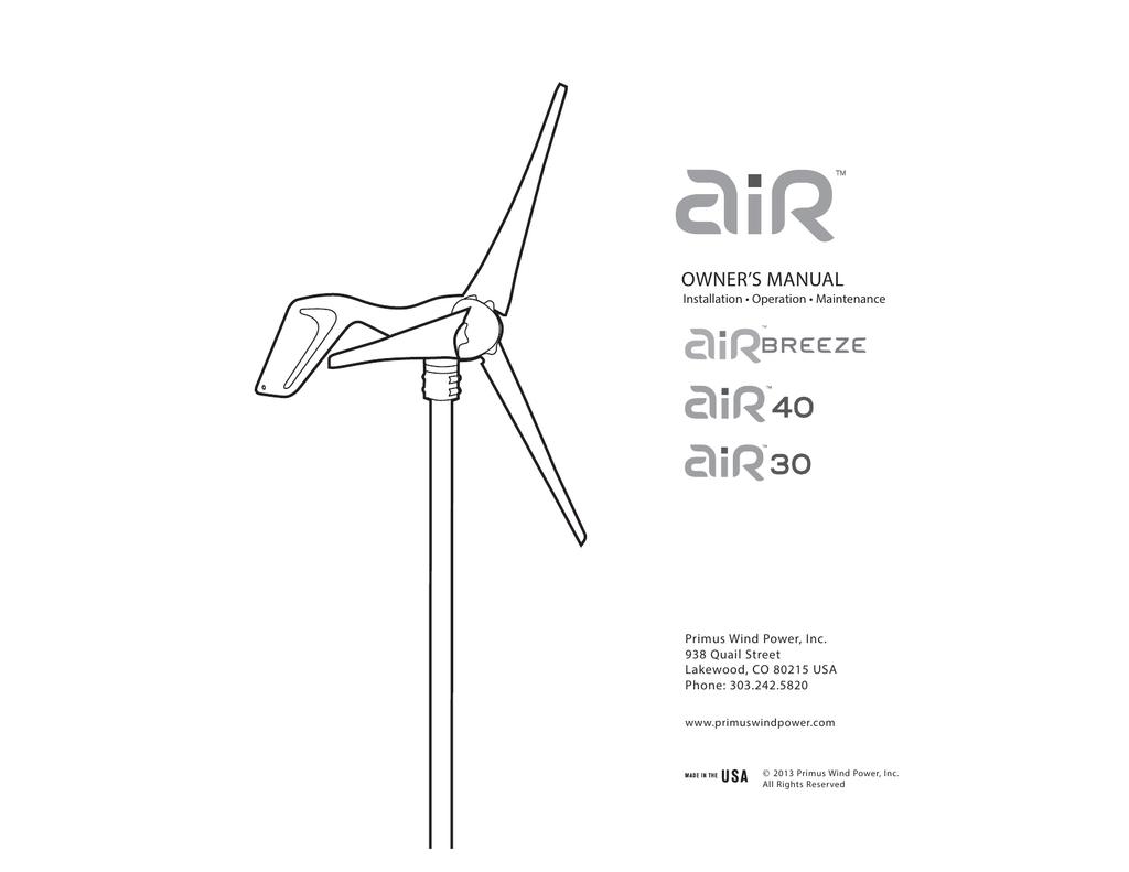 Home & Garden potentiometer for Air Breeze wind generator