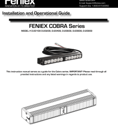 feniex cobra series installation and operational guide [ 791 x 1024 Pixel ]