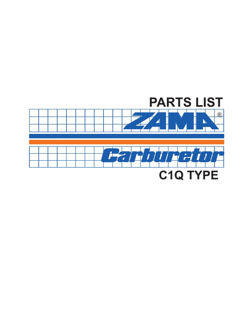 hight resolution of zama c1q illustrated parts list