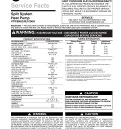 trane xb14 heat pump service facts [ 791 x 1024 Pixel ]