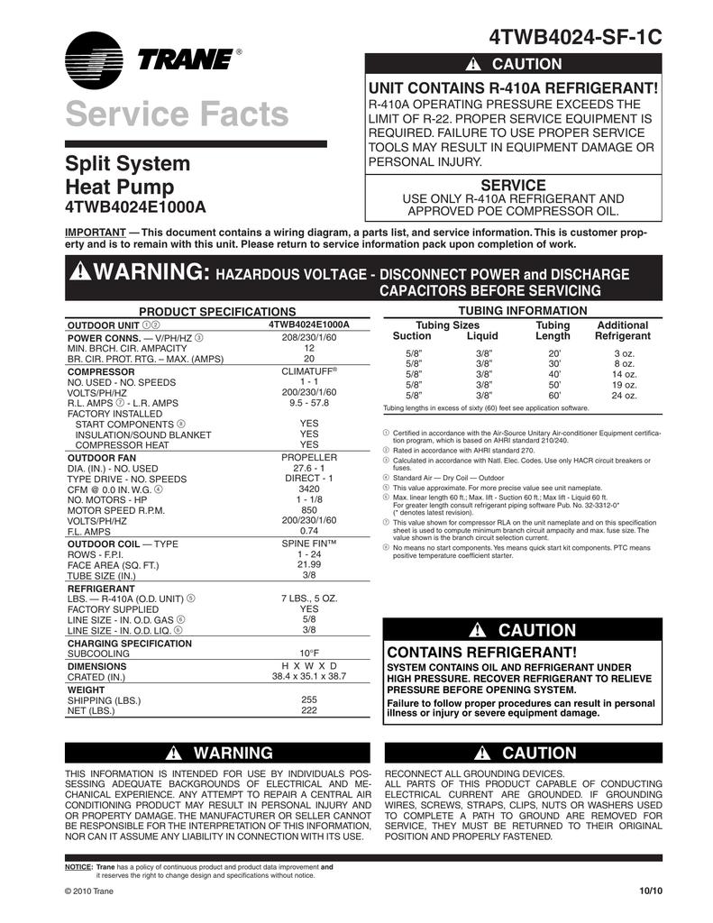 medium resolution of trane xb14 heat pump service facts