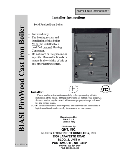 small resolution of biasi pirowood installation manual