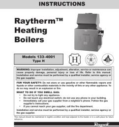 raytherm raypak raytherm 133 4001 installation and operation instruction [ 791 x 1024 Pixel ]