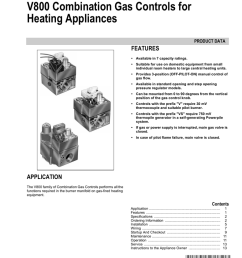 v800 combination gas controls for heating appliances features product data [ 791 x 1024 Pixel ]