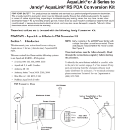 jandy pdaconvj installation guide [ 791 x 1024 Pixel ]