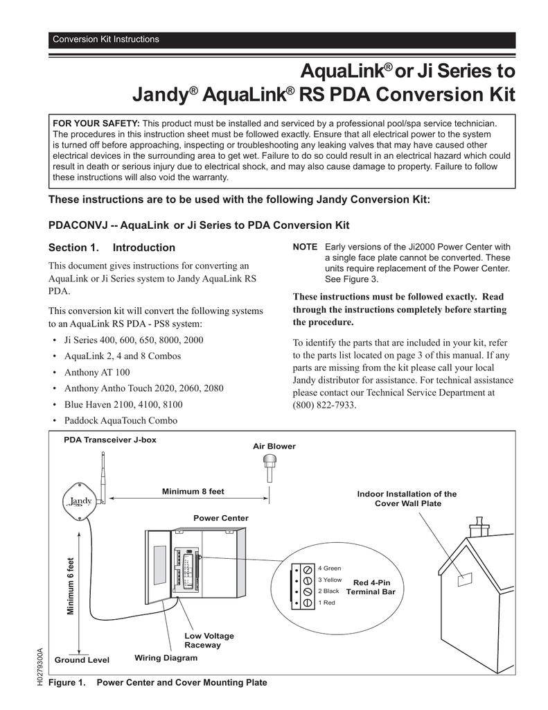 medium resolution of jandy pdaconvj installation guide