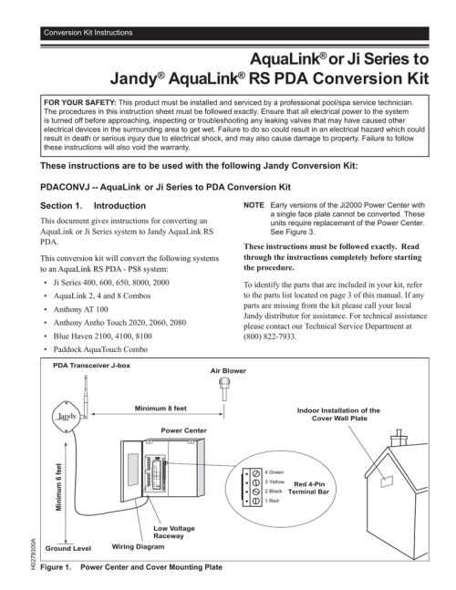 small resolution of jandy pdaconvj installation guide