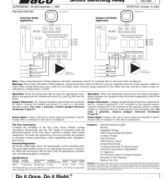 instruction sheet sr503 switching relay supersedes 102 083 december 1 1999 plant id 9300 830 102 083 effective october 15 2005 thermostats thermostats  [ 791 x 1024 Pixel ]