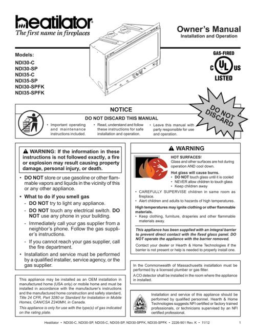 small resolution of heatilator ndi30 ndi35 install manual