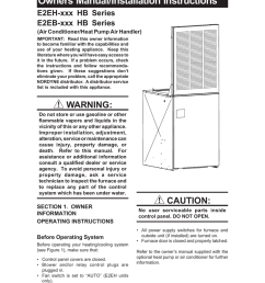 nordyne e2eh hb series electric furnace installation manual [ 791 x 1024 Pixel ]