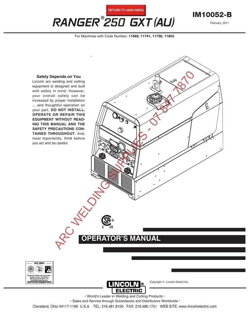 hight resolution of  wiring diagram miller ranger 250 gxt au im10052 b manualzz com on lincoln