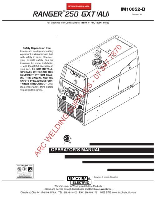 small resolution of  wiring diagram miller ranger 250 gxt au im10052 b manualzz com on lincoln