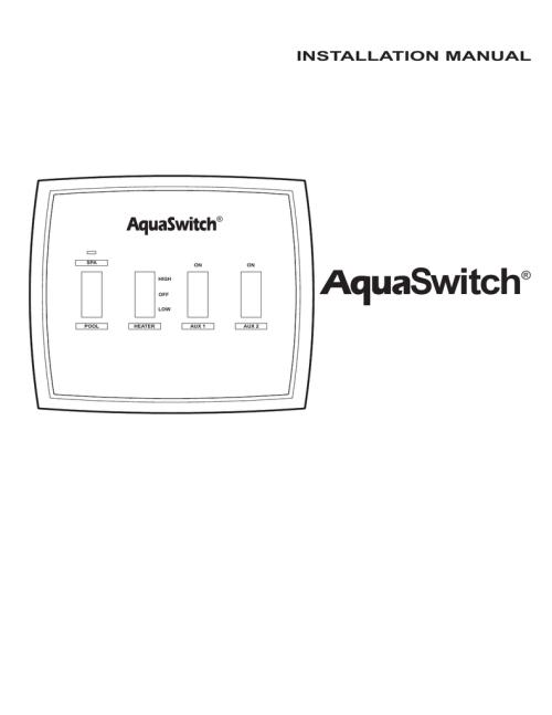 small resolution of aquaswitch installation manual