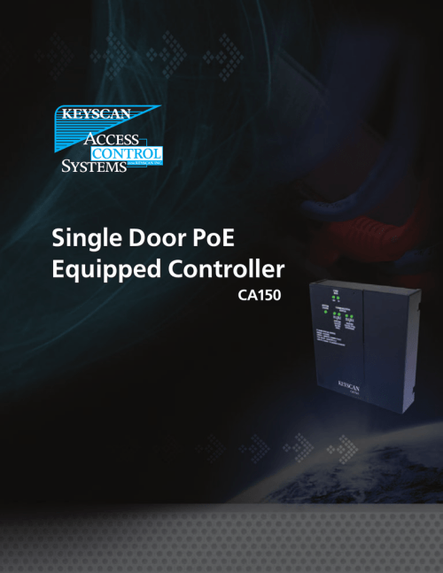small resolution of single door poe equipped controller ca150