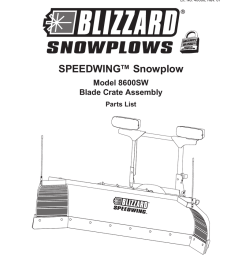 blizzard parts list speedwing snowplow plow side blade and off truck components [ 791 x 1024 Pixel ]