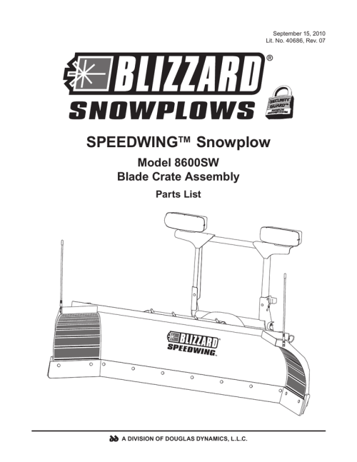 small resolution of blizzard parts list speedwing snowplow plow side blade and off truck components