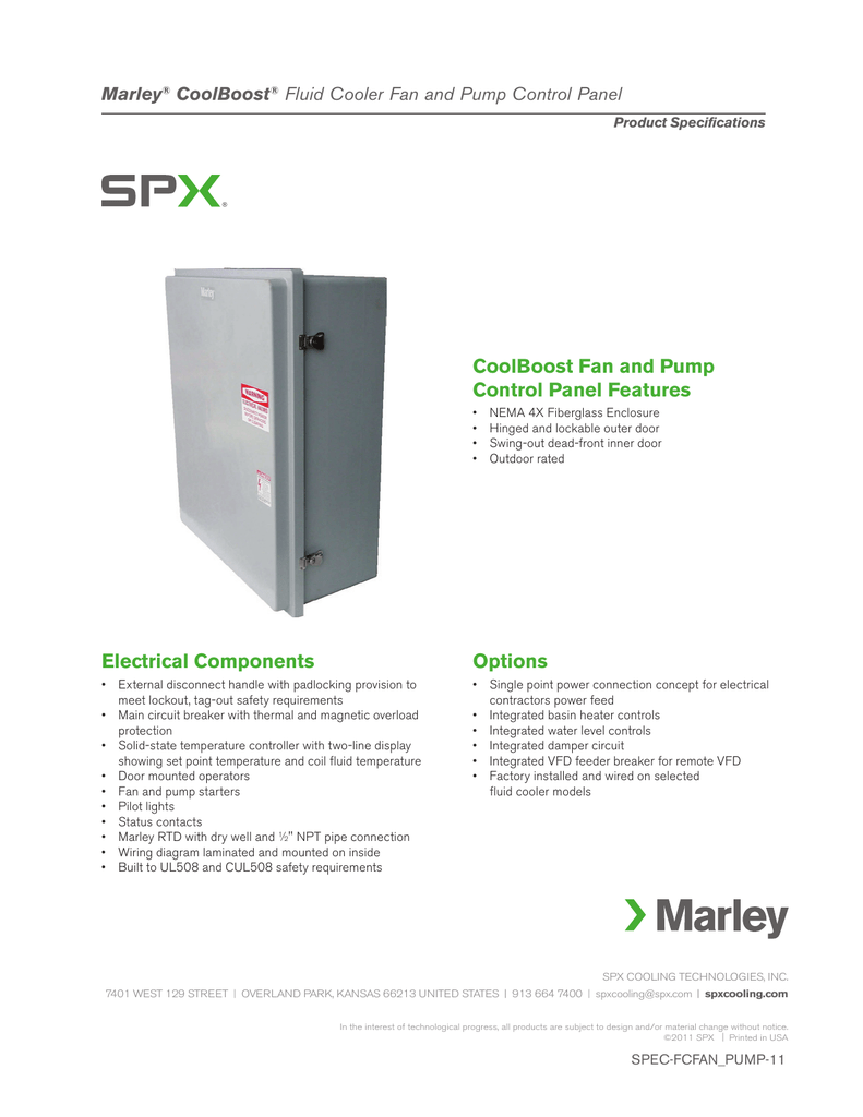 medium resolution of marley pump wiring diagram wiring diagrammarley pump wiring diagram coolboost fan and pump control panel features