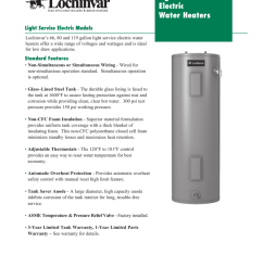 light service electric water heaters light service electric models lochinvar s 66 80 and 119 gallon light service electric water heaters offer a wide range  [ 791 x 1024 Pixel ]