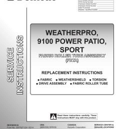 dometic weatherpro replacement manual 3307927 024 [ 791 x 1024 Pixel ]