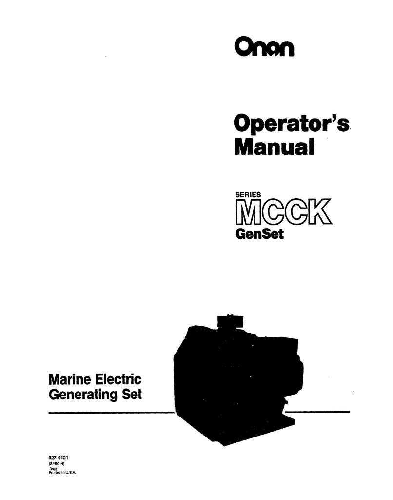 medium resolution of onan mcck marine genset manual