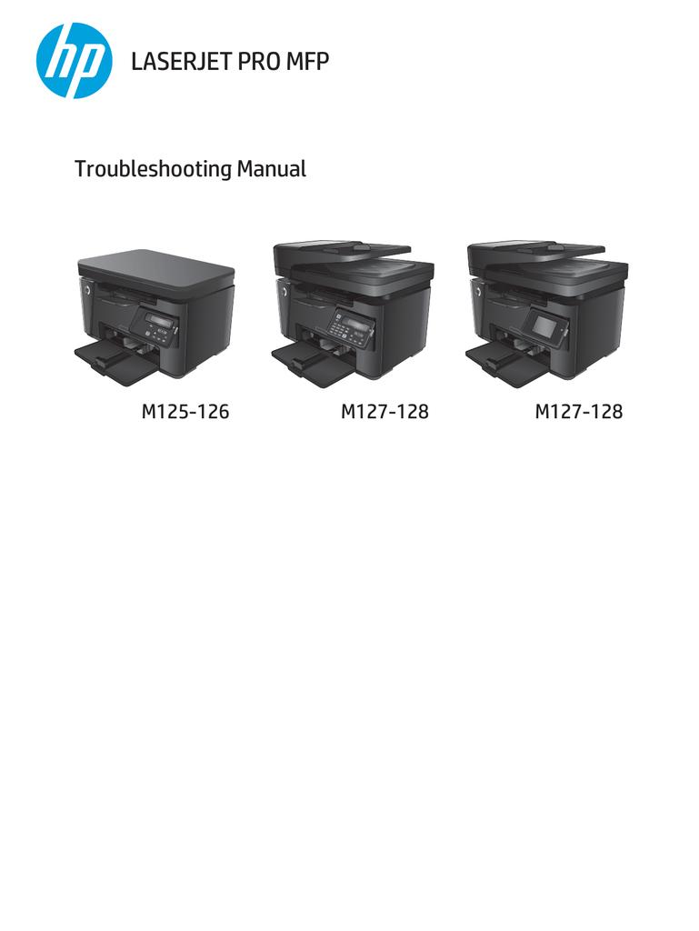 Download Driver Printer Hp Laserjet Pro Mfp M125a : download, driver, printer, laserjet, m125a, LASERJET, Troubleshooting, Manual, M125-126, M127-128, Manualzz
