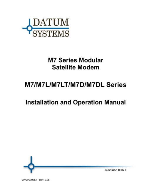 small resolution of datum m7 manual