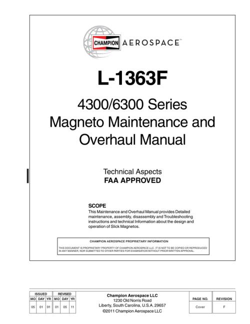 small resolution of slick magneto overhall manual