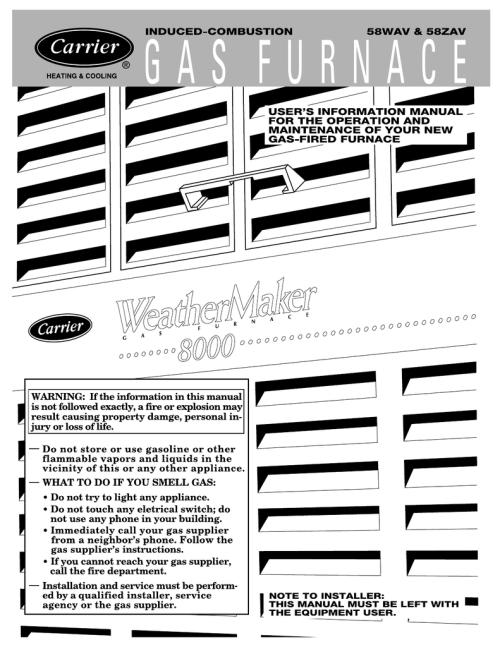 small resolution of  manual pdf download rh manualslib com array carrier 58 wav 58 zav manualzz com rh manualzz com array goodman gas furnace
