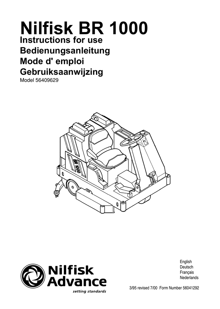 Nilfisk BR 1000 Instructions for use Bedienungsanleitung