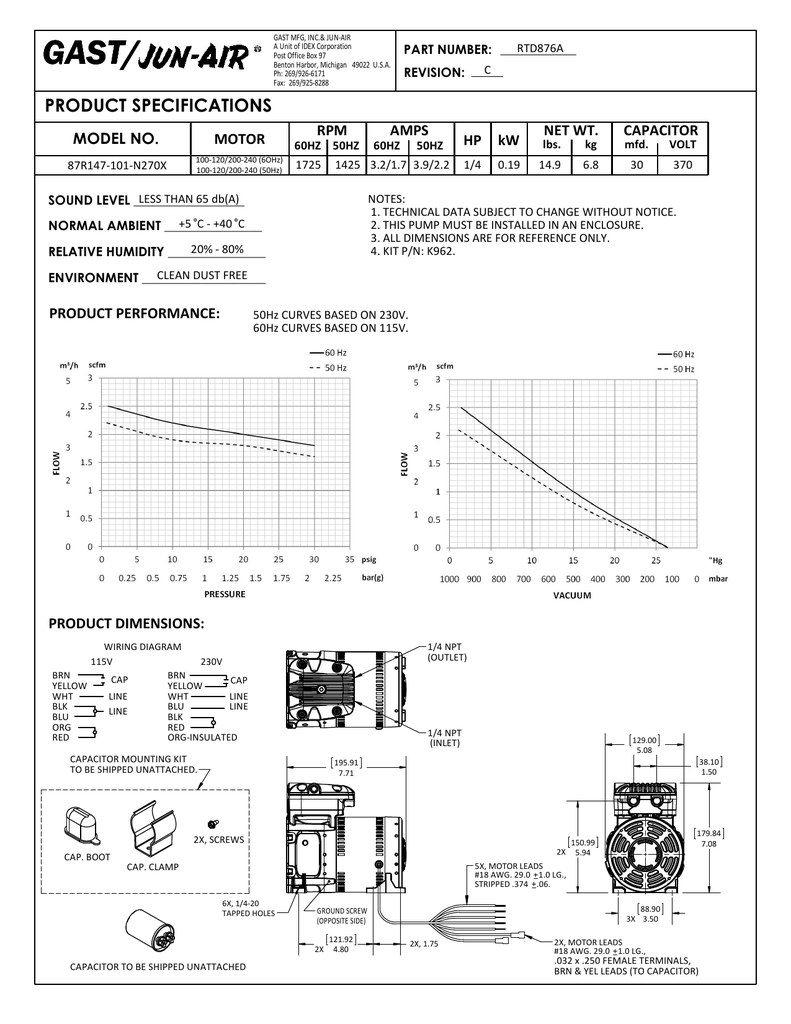 hight resolution of gast rtd876a part number