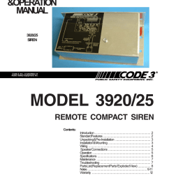 remote compact siren installation guide [ 791 x 1024 Pixel ]