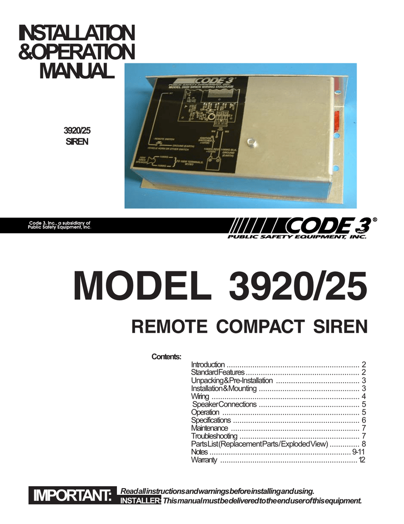 hight resolution of remote compact siren installation guide