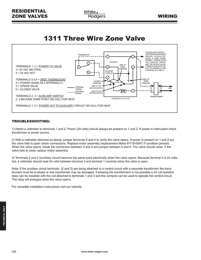 medium resolution of 1311 three wire zone valve residential zone valves wiring