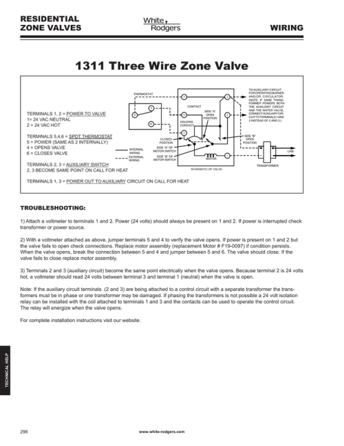 small resolution of 1311 three wire zone valve residential zone valves wiring