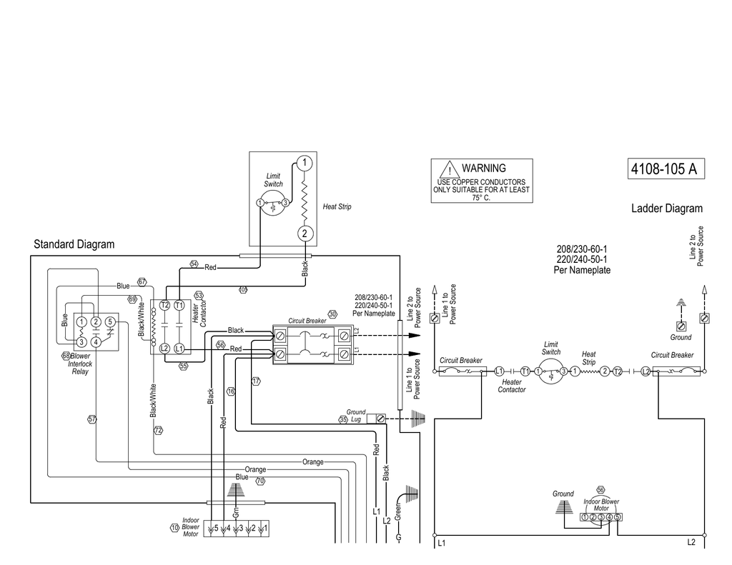 hight resolution of 4108 105 a ladder diagram standard diagram warning