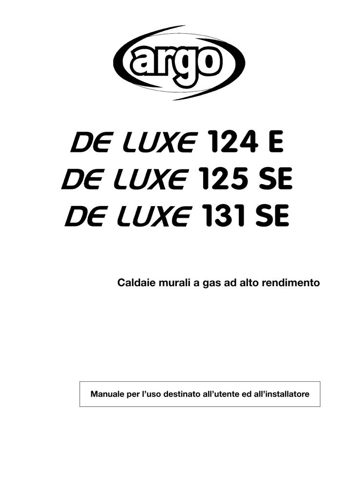 ARGO CLIMA manuali utente caldaia de luxe 124 e 125 se 131