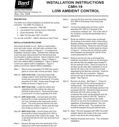bard manufacturing company inc bryan ohio 43506 installation instructions cmh 19 low ambient control description the cmh 19 is a field installable low  [ 791 x 1024 Pixel ]