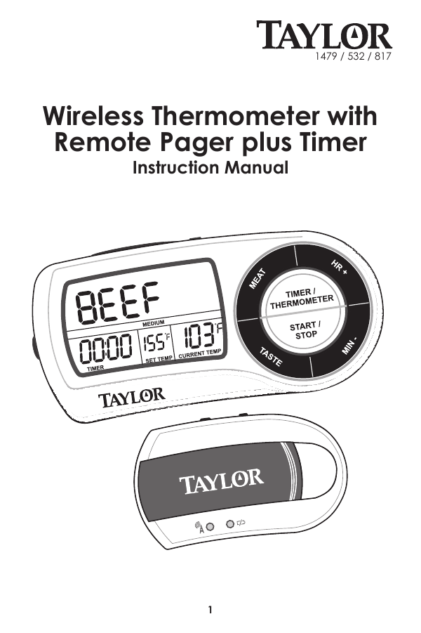 Owners manual for Taylor 817 Weekend Warrior Digital
