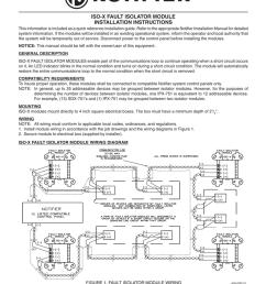 notifier iso x fault isolator module installation instructions [ 791 x 1024 Pixel ]