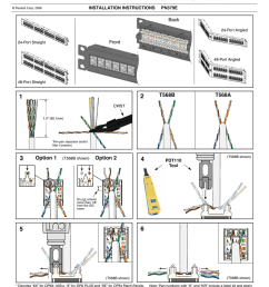 click here to panduit dp6 dp5e patch panel installation instructions [ 791 x 1024 Pixel ]