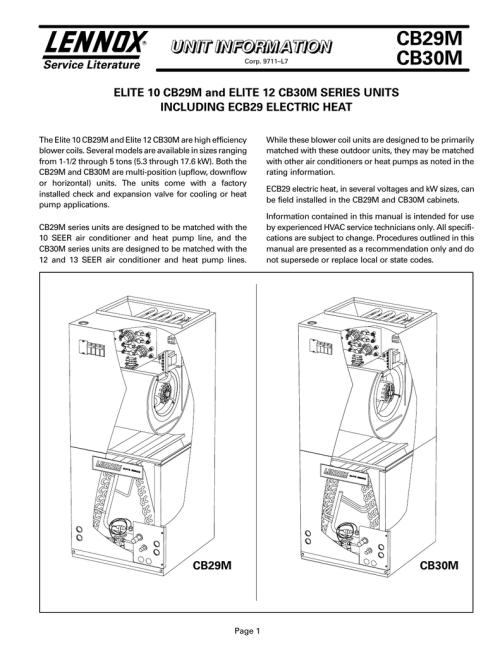 small resolution of cb29m cb30m service literature elite 10 cb29m and elite 12 cb30m series units manualzz