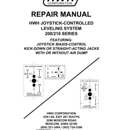 hwh 200 series leveling system service manual [ 791 x 1024 Pixel ]