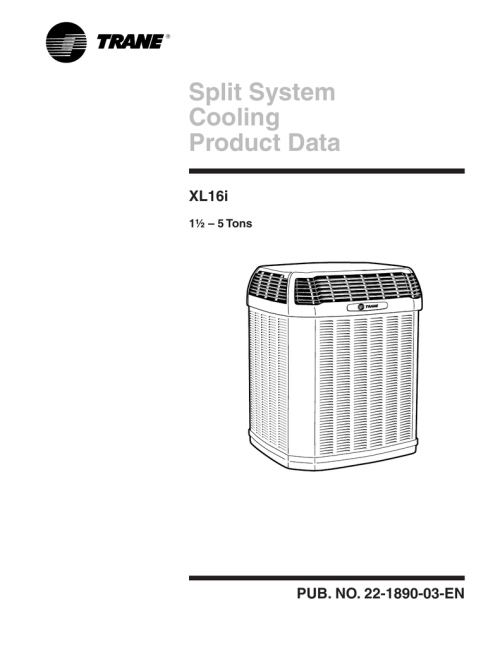 small resolution of trane xl16i product data