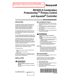 honeywell r8182d h combination protectorelay primary control and aquastat controller installation instructions [ 791 x 1024 Pixel ]