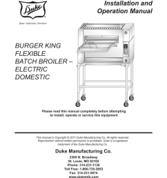 installation and operation manual burger king flexible [ 791 x 1024 Pixel ]