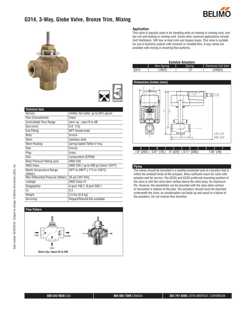 medium resolution of g314 3 way globe valve bronze trim mixing application this valve is typically used in air handling units on heating or cooling coils and fan coil unit