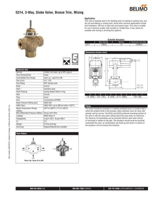 small resolution of g314 3 way globe valve bronze trim mixing application this valve is typically used in air handling units on heating or cooling coils and fan coil unit