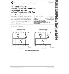 cd4023bm cd4023bc buffered triple 3 input nand gate cd4025bm cd4025bc buffered triple 3 input nor gate [ 791 x 1024 Pixel ]